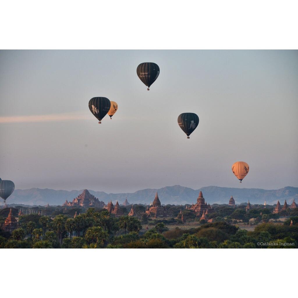 Luftballong i Bagan