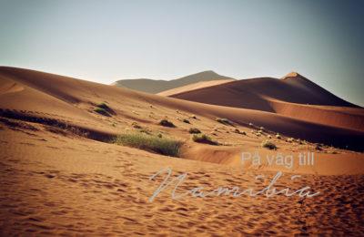 På väg till Namibia