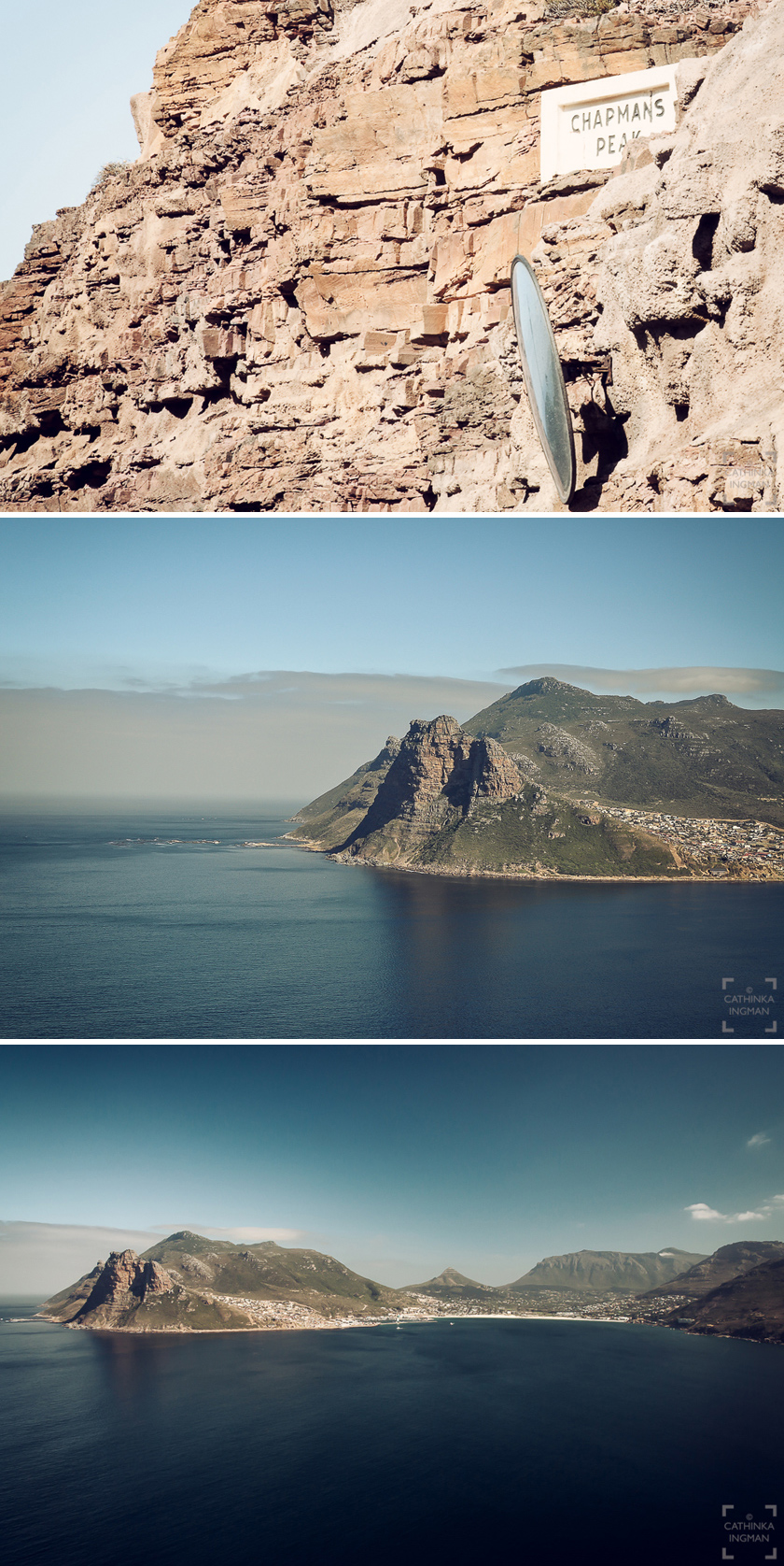 Godahoppsudden. Chapmans Peak, Cape of Good Hope