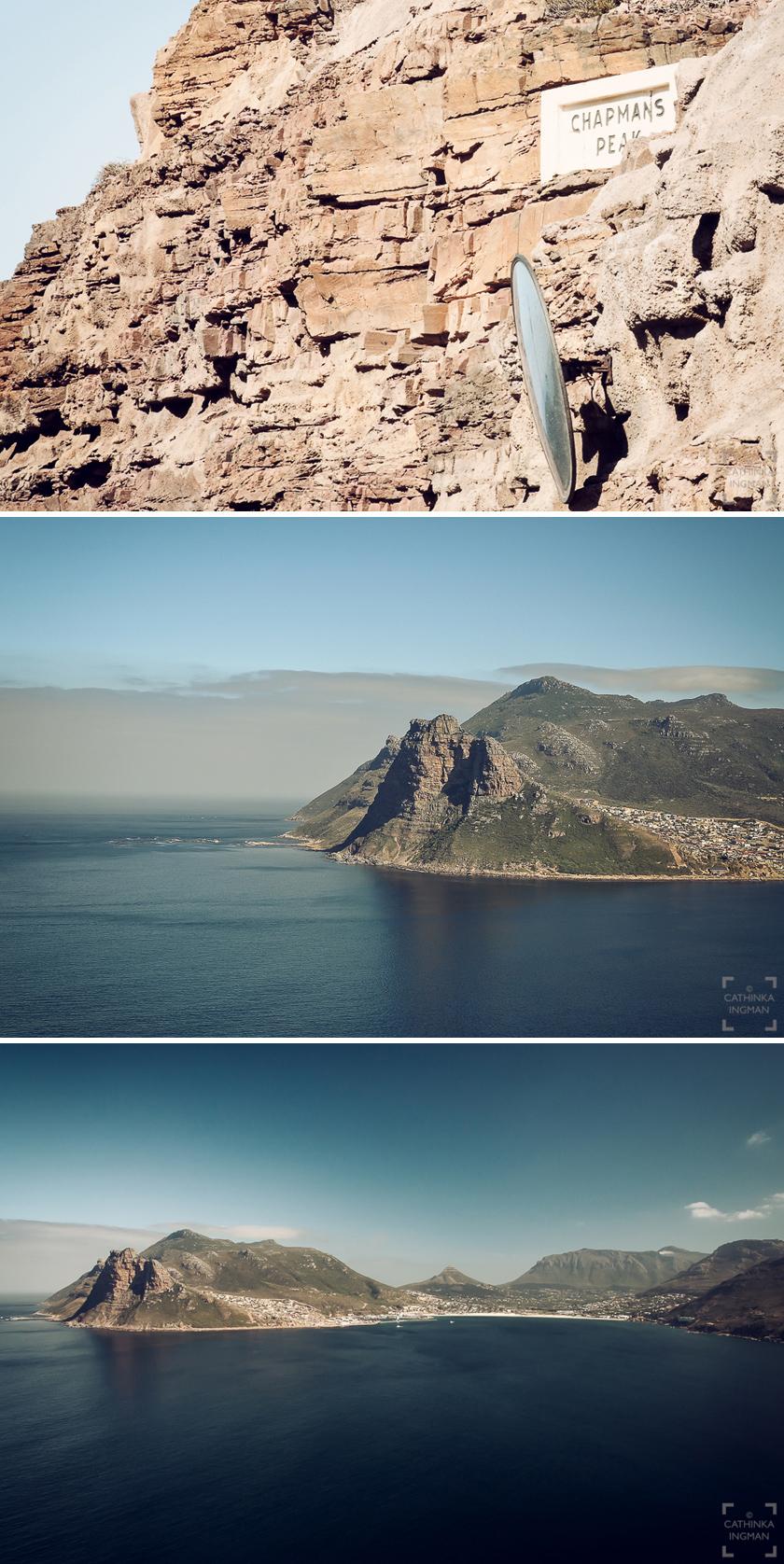 Godahoppsudden. Chapmans Peak, Cape of Good Hope