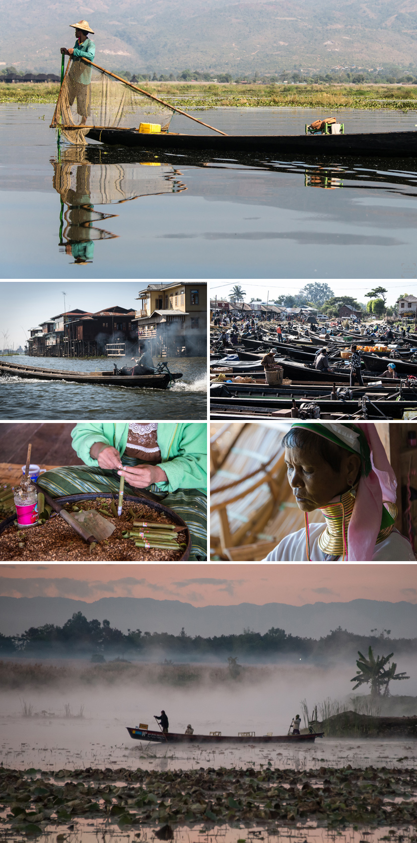 Burma resa, Inle lake, marknad