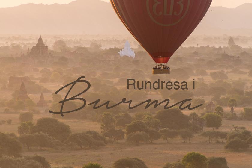 Rundresa i Burma, Bagan, luftballong i bagan