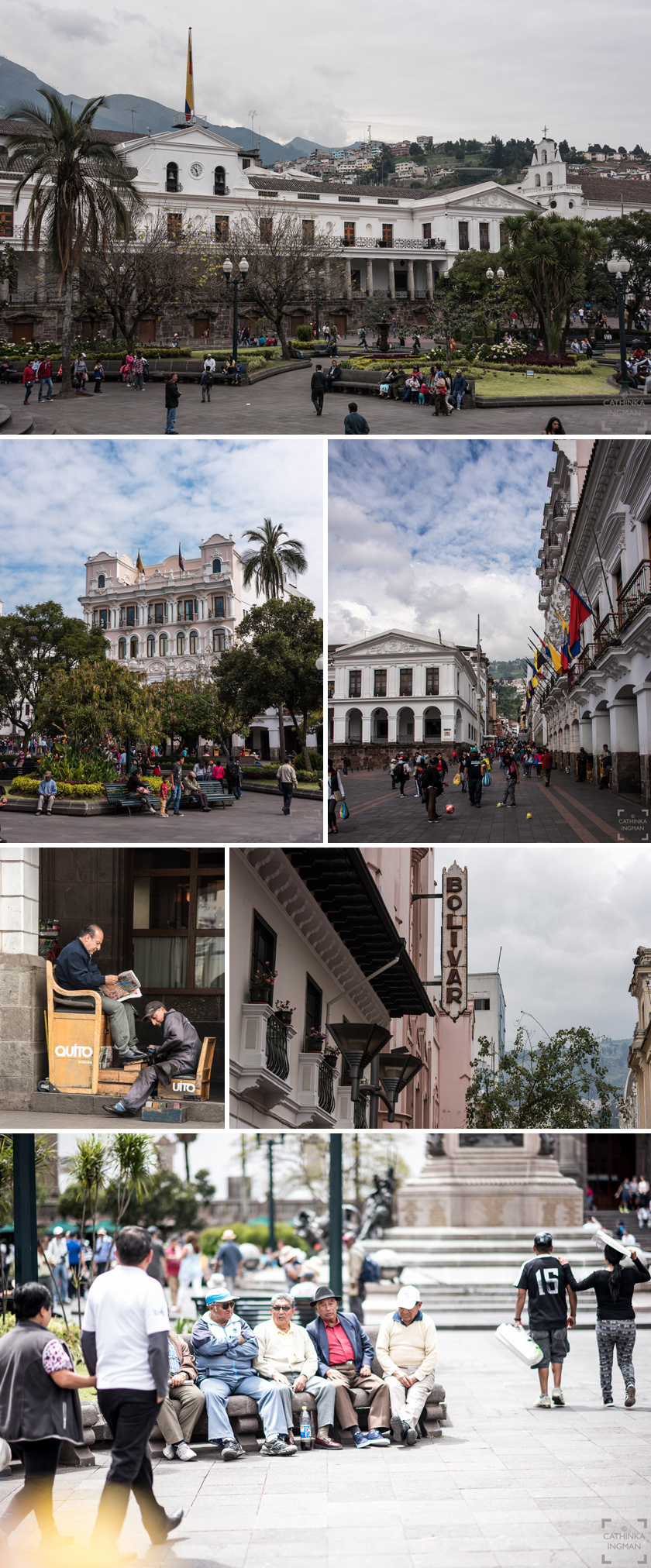 Sightseeing i Quito, Plaza del la Independencia