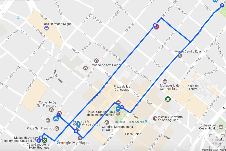 Karta Quito