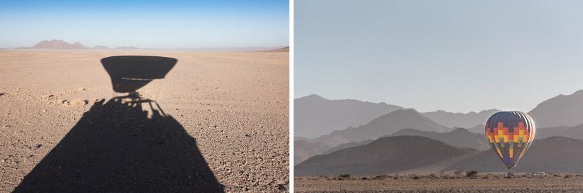 Luftballong i Namibia, Sossusvlei, Namib Nackluft, namib sky balloning