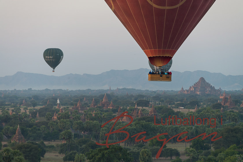 Restips-Burma, Luftballong Bagan