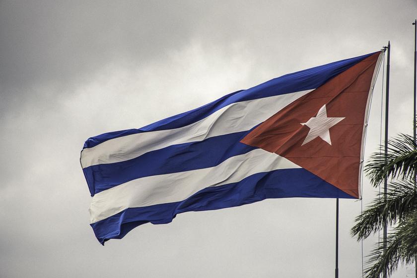 Resa till Kuba, Kubas flagga, Santa Clara, Pa vift en reseblogg, www.cathinkaingman.se