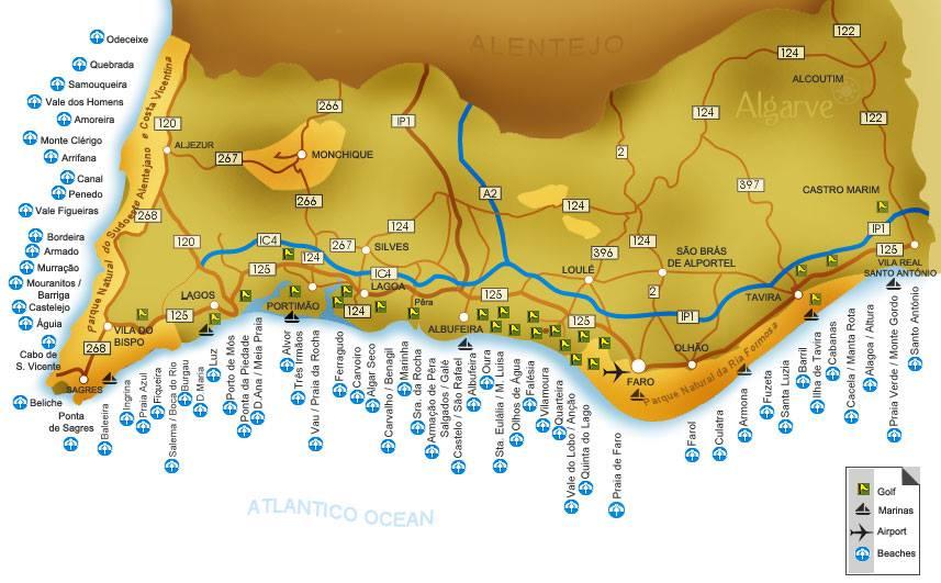 Lagos Portugal stränder