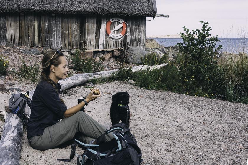 Roslagsleden etapp 11, vandringar i Stockholmstrakten, vandra med hund