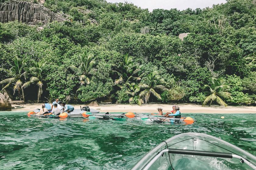 Resa till Seychellerna, Chrystal kayaks