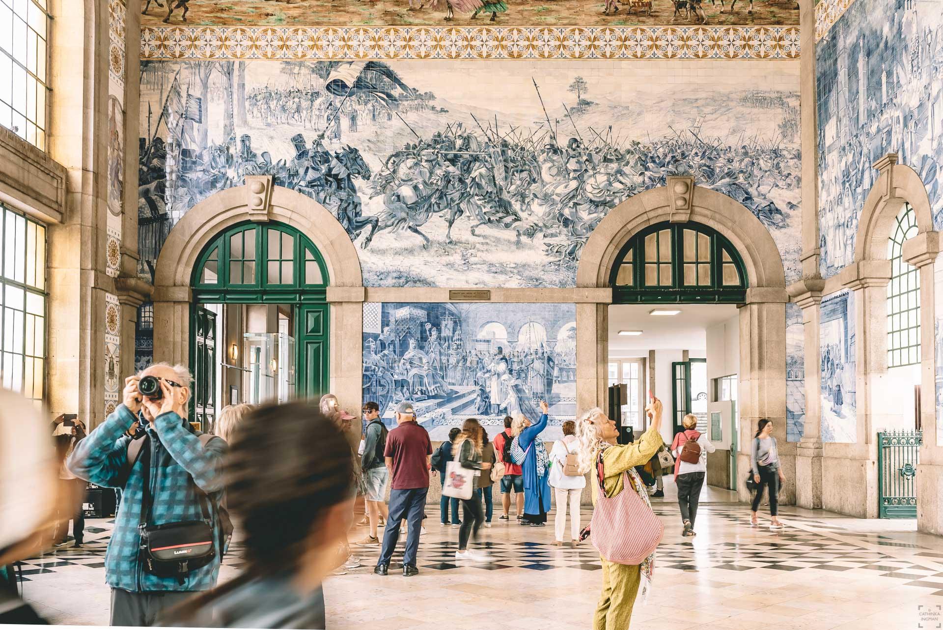 Sao Bento, en av världens vackraste tågstationer