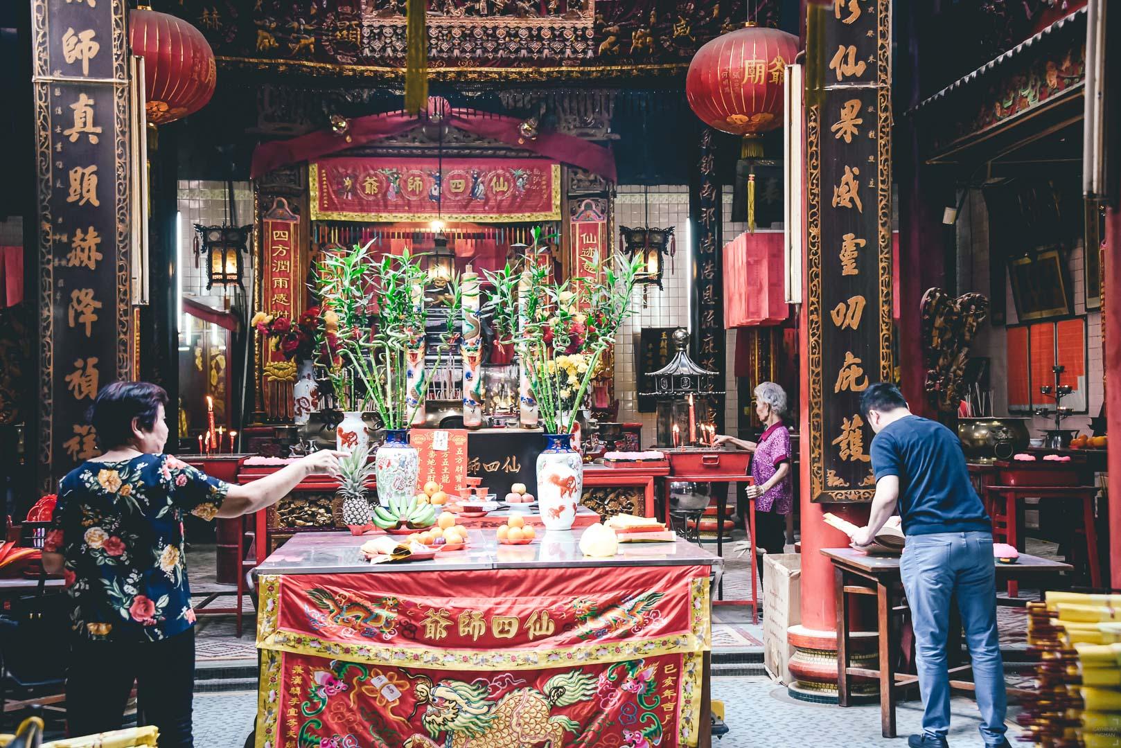 Sin Sze Si Ya Tempel, China Town, Kuala Lumpur