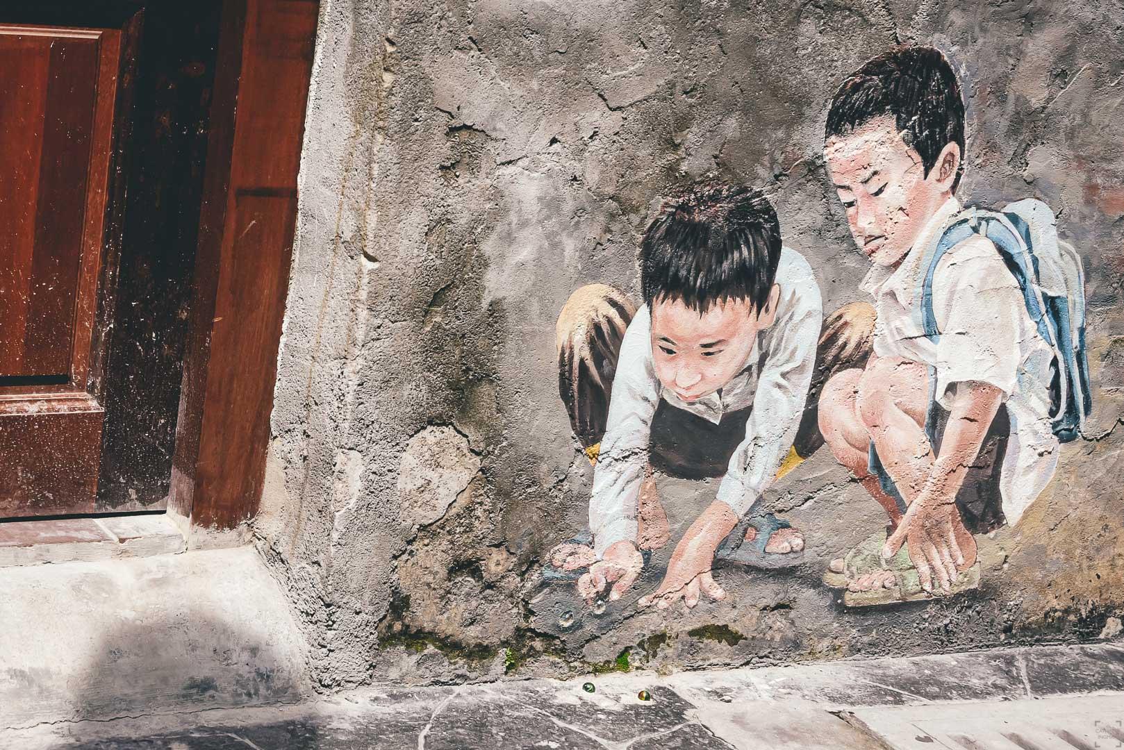 Kuala Lumpur Chinatown, Ghost St., Kwai Chai Hong, street art