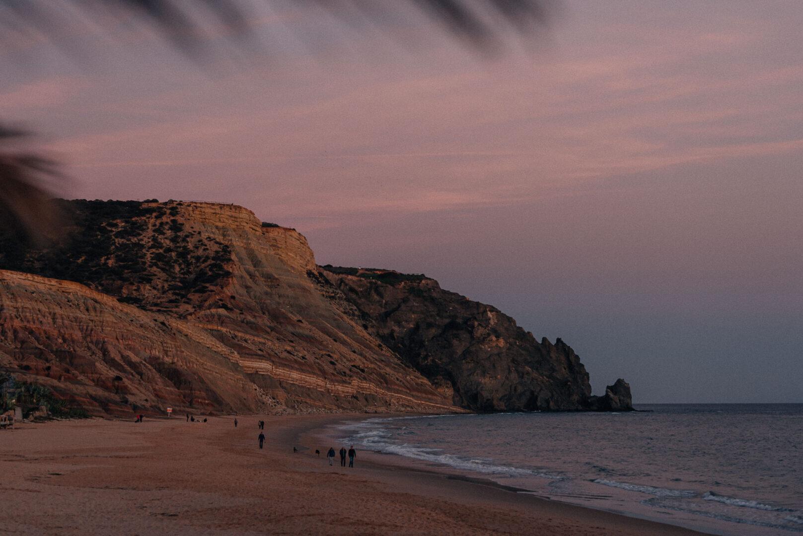 Praia da Luz i solnedgång